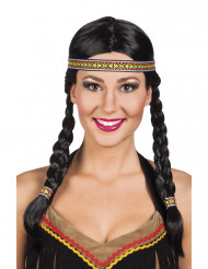 Parrucca da indiana con trecce donna