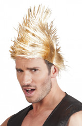 Parrucca punk bionda da adulto