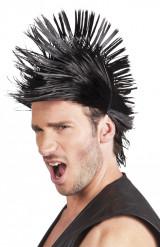 Parrucca nera punk da adulto