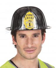 Casco da pompiere nero