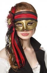Maschera veneziana pirata adulto