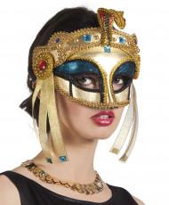 Maschera da regina egiziana dorata