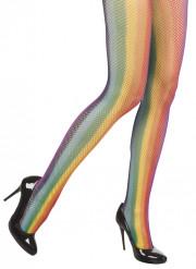 Calze a rete arcobaleno donna