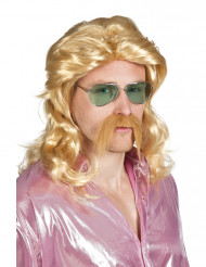 Parrucca e baffi biondi uomo