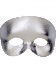 Mezza maschera argento adulto