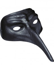 Maschera naso lungo nero adulto