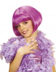 Parrucca corta cabaret viola bambina