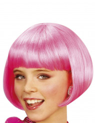 Parrucca corta cabaret rosa bambina