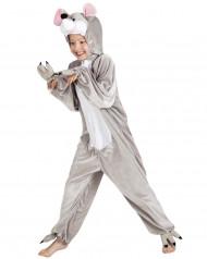 Costume topolino grigio e bianco bambino