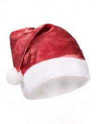 Cappello di Natale adulto rosso metallizzato