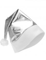 Image of Cappello di Natale adulto argento metallizzato