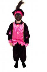 Costume Zwarte Piet rosa bambino