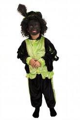 Costume Zwarte Piet verde bambino