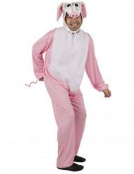 Costume maiale rosa adulto