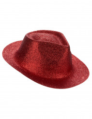 Cappello con paillettes rosso
