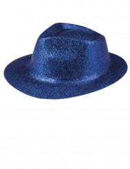 Cappello con paillettes blu