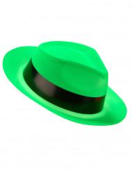 Cappello borsalino verde fluorescente