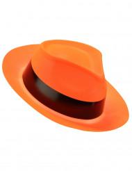 Cappello borsalino arancione fluorescente