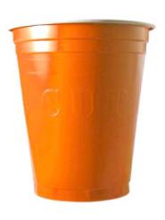20 Bicchieri plastica Original Cup arancioni