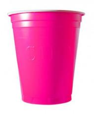 20 Bicchieri plastica Original Cup rosa