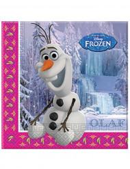 20 Tovaglioli carta Olaf Frozen-Il Regno di Ghiaccio™