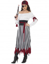 Costume a righe pirata donna