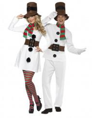 Costume coppia omino di neve