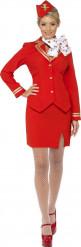 Costume hostess rosso donna