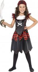 Costume pirata nero bambina