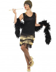 Costume Charleston nero e dorato donna