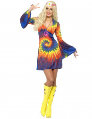 Costume hippie spirale multicolore donna