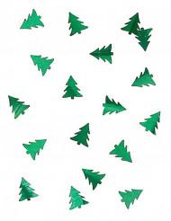 Coriandoli da tavola abete di Natale metallizzati