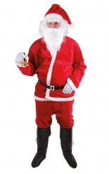 Costume Babbo Natale adulto peluche