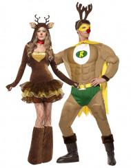 Costume da renna umoristico per coppia