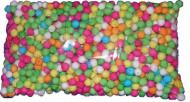 Sacchetto 500 palline cerbottana multicolori