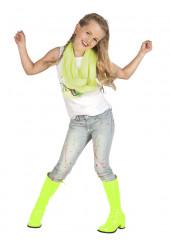 Stivali gialli fluo bambina
