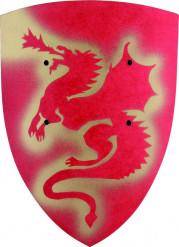 Scudo dragone rosso bambino