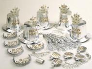 Set accessori per la festa argentati Buon Anno