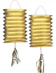2 Lampioni dorati