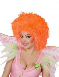 Parrucca arancione fluo da adulto