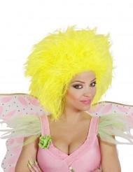 Parrucca giallo fluo da donna