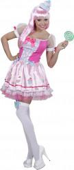 Costume da cupcake rosa sexy donna