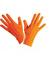 Guanti corti arancioni adulto