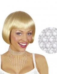 Girocollo di perle bianche da donna