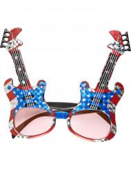 Occhiali a forma di chitarra rock