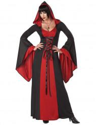 Costume strega malefica con cappuccio donna