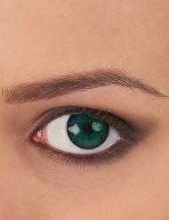 Trucco Halloween: lenti a contatto verdi adulto