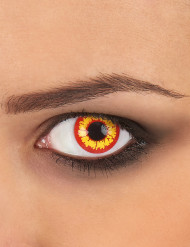 Image of Lenti a contatto fantasia gialle e rosse