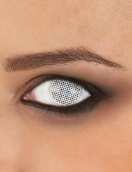 Lenti a contatto pixel bianco adulto