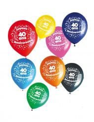 8 palloncini 40 anni